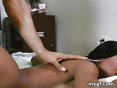 Tia the hot ebony slut does it all