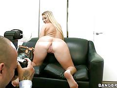 blonde, casting, big cock, masturbation, big boobs, dildo, fingering, photo shoot, hot ass, katie banks, back room facials, bang bros