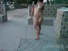 Nude in san francisco:  iris naked in public