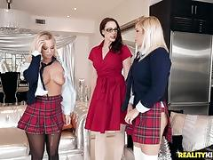 Hot lesbian threesome with mature chanel and sexy girls bailey and daisy