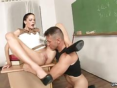 Bad teacher gets ass drilled by student after class