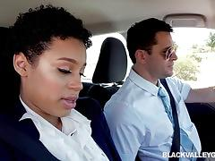 Ebony amethyst banks fcuks her driving school instructor