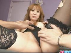 Pretty and horny redhead asian babe yuki mizuho