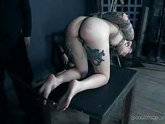 threesome, caning, bdsm, babe, torture, tattooed, suspended, rope bondage, real time bondage, eden sinclair, luna lovely