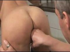 Hot milf fucked in kitchen - german - csm