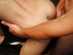 Ivy gets 5 creampies at once in a gangbang