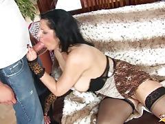 Kinky granny gets rough fucked