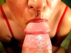 Super closeup halloween blowjob