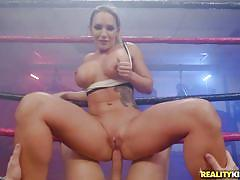 milf, anal, wrestling, deepthroat, big boobs, tattooed, pierced, cowgirl, from behind, riding cock, pussy eating, monster curves, reality kings, markus dupree, cali carter