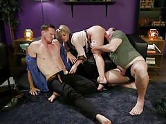gay blowjob, licking pussy, big tits, handjob, sex slave, big cock, threesome, blonde, femdom, mmf, divine bitches, kink, kip johnson, dee williams, pierce paris
