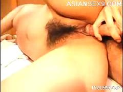Asian model gets her pussy pounded by her boyfriend