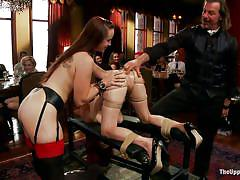 lesbians, anal fingering, sex slave, sexy ass, shaved ass, the upper floor, kink, penny pax, bella rossi, mickey mod