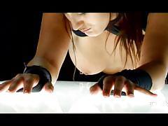 milf, deepthroat, brunette, from behind, candle, hot wax, ass whipping, thagson