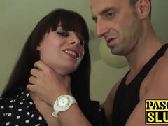 Tiffany naylor gives a messy deepthroat