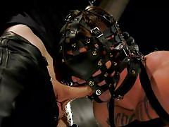 Masked sex slave was tortured and face fucked