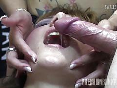 Michelle swallows 83 huge mouthful cumshots