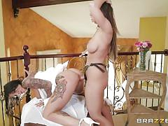 bride, strapon, lesbians, babe, busty, wedding, pussy licking, tattooed, from behind, pussy fingering, hot and mean, brazzers, abigail mac, felicity feline