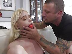 Hardcore bdsm face fuck and slave's painful screams as additional bonus