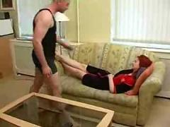 Russian mature mom fucked by young guy