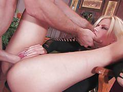Blonde france slut getting fucked hard by a hunk