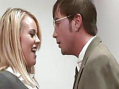 Hot playboy babe fucking in the office