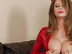 Sweet little devil emily is horny and she masturbates