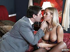 milf, wife, heels, round ass, pantyhose, masturbation, big boobs, kissing, lipstick, spread legs, rubbing pussy, nicole aniston, manuel ferrara, real wife stories, brazzers, jugg cash