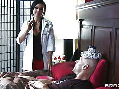 milf, big tits, erotic, doctor, brunette, bald, patient, huge ass, nice boobs, hard dick, eva angelina, johnny sins, doctor adventures, brazzers, jugg cash