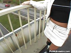 milf, money talks, outdoor, public, long hair, blowjob, brunette, pov, hard cock, pussy fingering, unshaved, jessica fiorentino, public invasion, bang bros