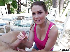 Allison moore rubbing a hard dick