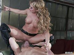 Blonde babe squirts all over his face