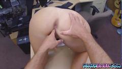Tight pawn shop slut gets facialized
