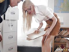 Horny teacher sucks my dick