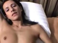 Amateur hot brunette getting fucked in many positions.