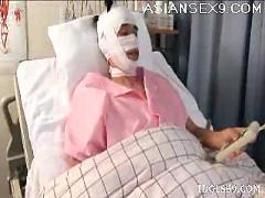 Japanese av model naughty nurse enjoys her patients