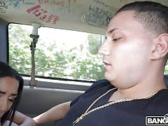 young, big cock, blowjob, for money, brunette, car sex, riding cock, pick up, ball sucking, bang bus, bangbros network, maya bijou, dani el paisa, carlos xx, chach