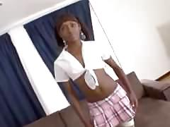 ebony, interracial, big-cock, teen, young, fishnets, teasing, masturbating, blindfolded, blowjob, shaking-ass, oil, doggy-style, reverse-cowgirl, cum-in-mouth