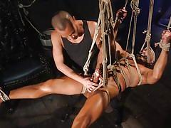 All starts with a kinky cock torture