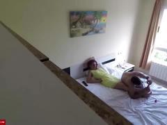 Voyeur sex of a young couple at home cri082
