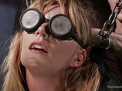 milf, blonde, bdsm, whipping, chain, blindfolded, dungeon, tied up, dungeon sex, kink, mona wales, christian wilde