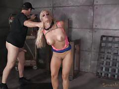 milf, blonde, threesome, bdsm, interracial, deepthroat, cage, mouth fuck, from behind, sexually broken, jack hammer, holly heart, matt williams