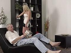 Old4k. beautiful girl and old dad have amazing sex