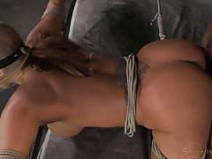 Busty milf restrained and fucked