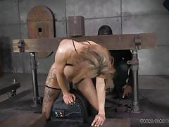 milf, blonde, bdsm, big tits, interracial, mouth fuck, squeezed tits, restraints, real time, fuck machine, real time bondage, rain degrey
