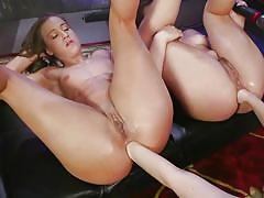 Anal fisting for two horny lesbians