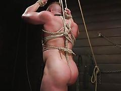 Blake hunter was bound and made to suck his torturer's cock