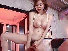 Busty asian babe aimi yoshikawa in a hot mmf threesome