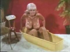 Candy samples - vintage bathtub scene.
