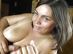 Hot titjob from a milf goddess