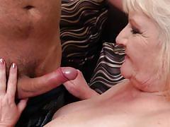 blonde, handjob, mature, saggy tits, blowjob, huge tits, bbw, fishnet stockings, tits sucking, mature nl, leona c.